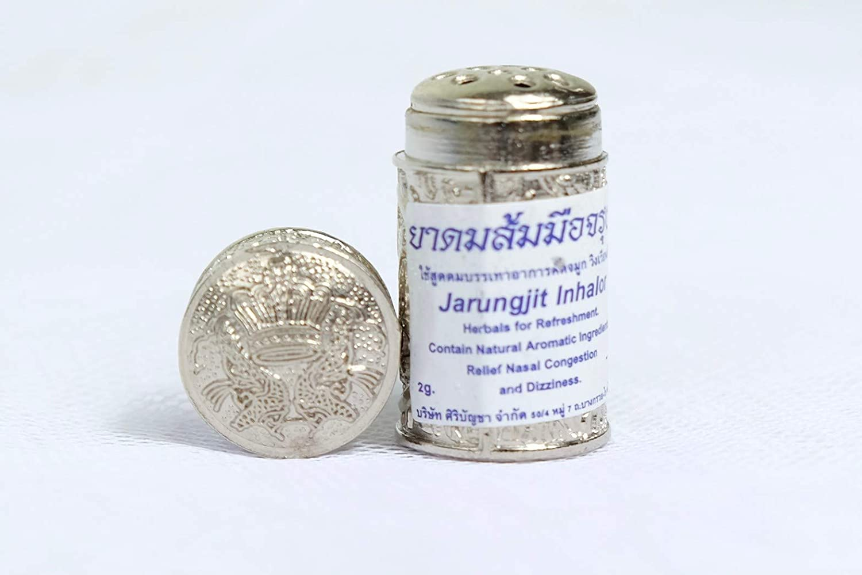 Thai Herbal Inhaler Jarungjit Relief Nasal Dizziness Aroma Refresh 2 Pcs.