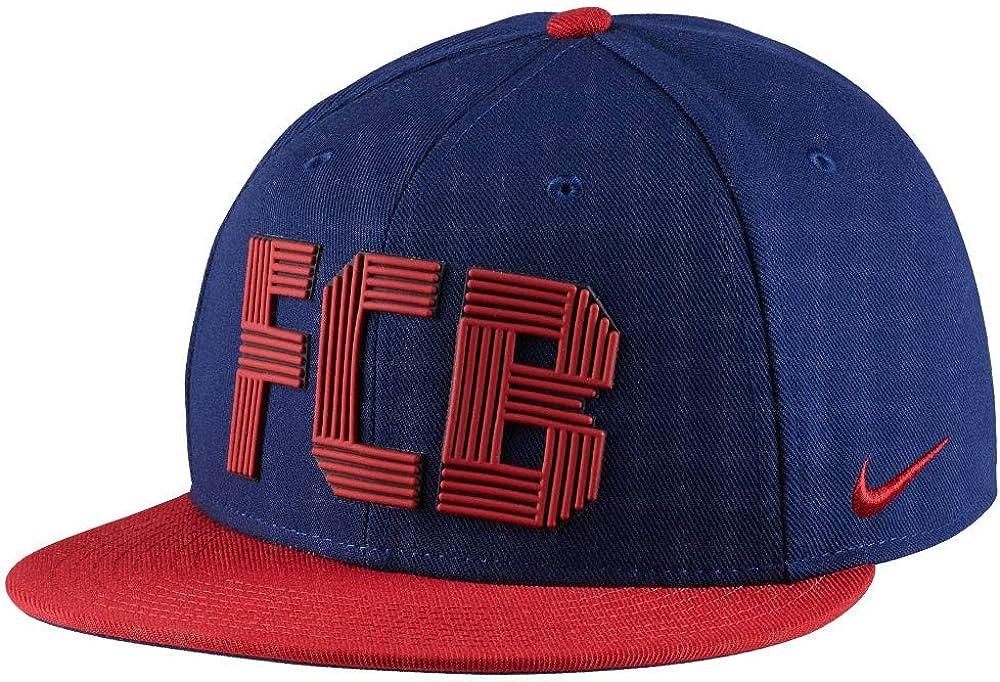 Nike FCB U Nk Cap Squad Gorra FC Barcelona, Hombre, Azul (Loyal ...