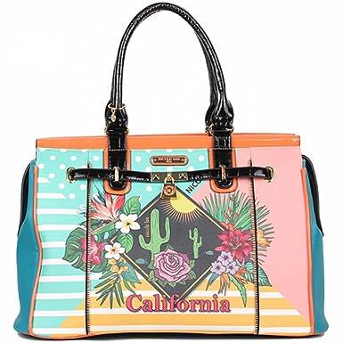 c40f08c802 Amazon.com  Nicole Lee Women s Overnighter Weekender Bag