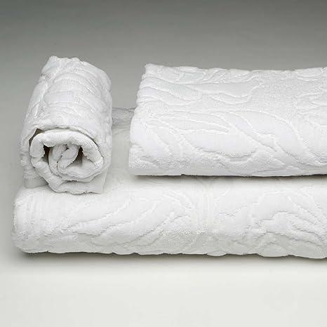 Burrito Blanco Juego de Toallas de Baño 3 Piezas (1 toalla de Ducha de 70x140
