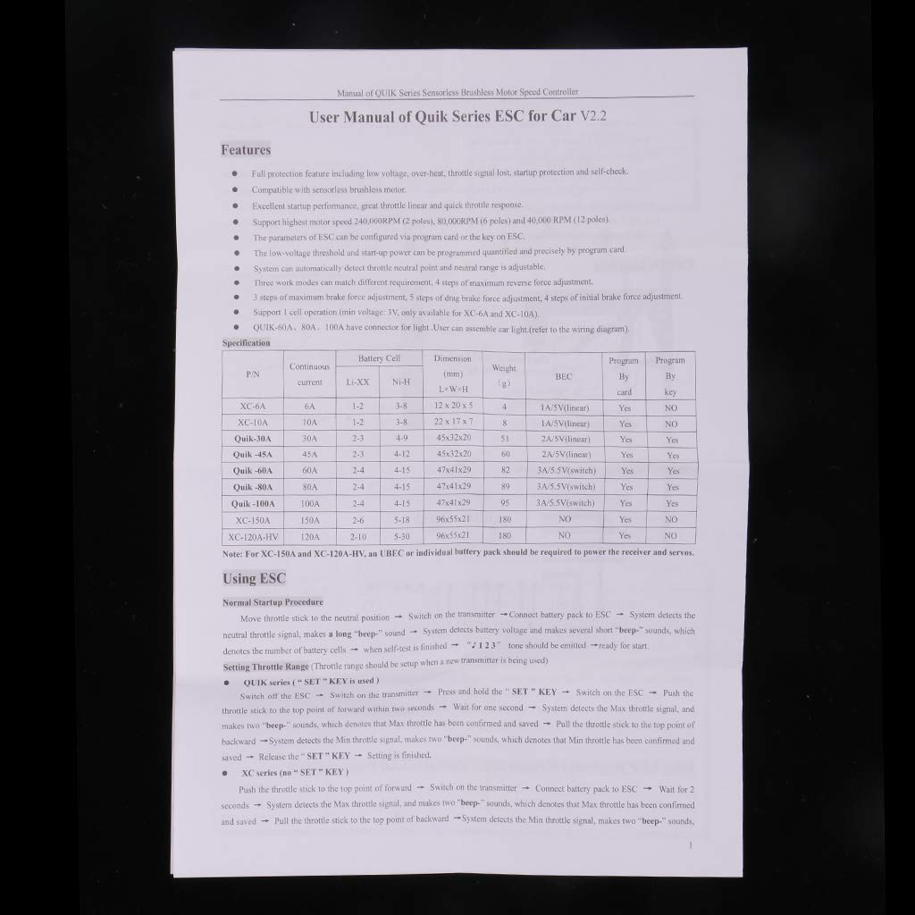 B Blesiya 2440 4300kv B/ürstenloser Motor mit 30A ESC f/ür 1//16 1//18 Wltoys A949 A959 A969 A979 Huanqi 734 jst