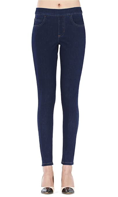 6d240b25ac089 Isolde - Skinny Dark Blue Indigo Jegging Super Stretch Knit Denim for Women  with Fully Functional