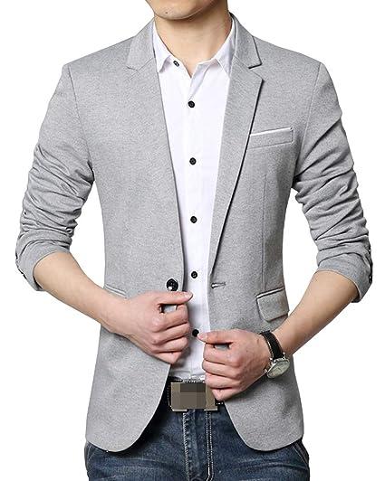 Shengwan Blazer Casual Hombre Slim Fit Chaquetas de Traje Informal ...