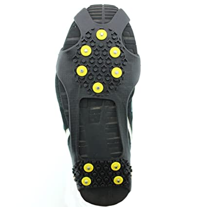 c9c114f1817b ODIER Shoe Ice Cleats 24 Teeth Ice Grippers 10 Teeth Cleats Shoes Designed  for Walk on Ice Snow and Freezing Mud Ground Must Have Accessories for  Outdoor ...