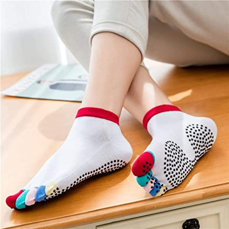 NYMZR Calcetines De Yoga para Mujer Pilates Calcetines ...