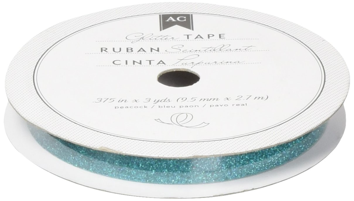 "American Crafts 3yd 375 .375/"" White Glitter Paper Tape"