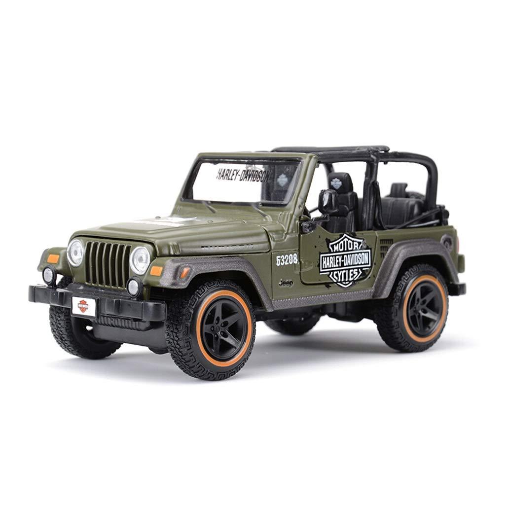 Auto Modell Car Jeep Jeep Wrangler Modell im Maßstab 1 24 Modell Die Casting Modell in Lega Modell Kollektion Dekorationen Geschenk rot B07Q2NJ14Q Autos König der Quantität | Haltbarkeit