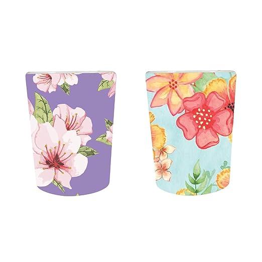 YaYa Cafe™ Floral Flower Delicate Marvelous Decorative Pots Planter Indoor (Only Pots) Set of 2
