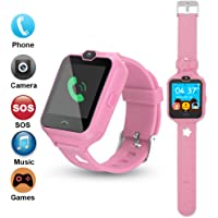 PHRtoy Smart Watch for kids, Unlocked Cell Phone Watch with [SIM Calls] [Anti-lost SOS] [Camera] [Alarm] [Games] Smart Watch Nice Birthday Gift for Kids, Boys and Girls (pink)