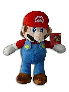 Mario 33cm Super Mario Bros Muñeco Peluche Hermano Fontanero Grande Rojo Videojuego Nintendo Chico Original Nuevo