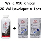 Wella Color Charm 050 Cooling Violet 2-Pack with Cream 20 Developer 3.6 oz