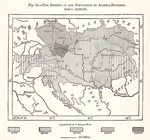 Amazon com: The Density of the Population of Austria-Hungary
