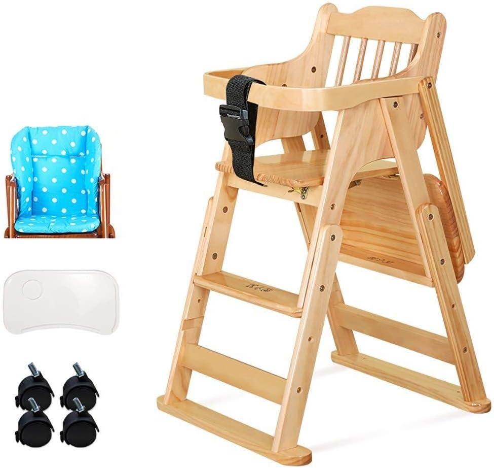 LAZ 5歳の赤ちゃん6ヶ月間に適したダイニング席セキュアグレートを食べさせる木製ハイチェア幼児 (色 : C)