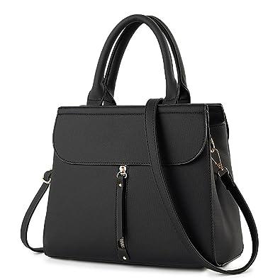 0feccad9df2af Longra Damen Handtaschen PU Leder Schultertasche Messenger Bag Top-Griff  Tragetaschen Damen Designer Taschen Umhängetasche