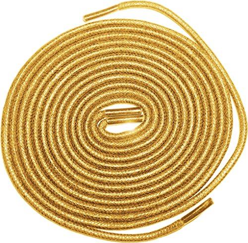 Shoeslulu 20-59 Premium Rondes En Toile Cirée Lacets Bootlaces Gingembre Beige