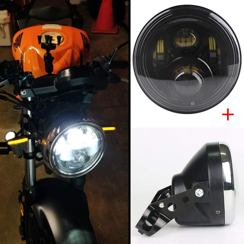 7Inch Black Motorcycle LED Headlight Mounting Housing Bucket for 7Inch Headlight
