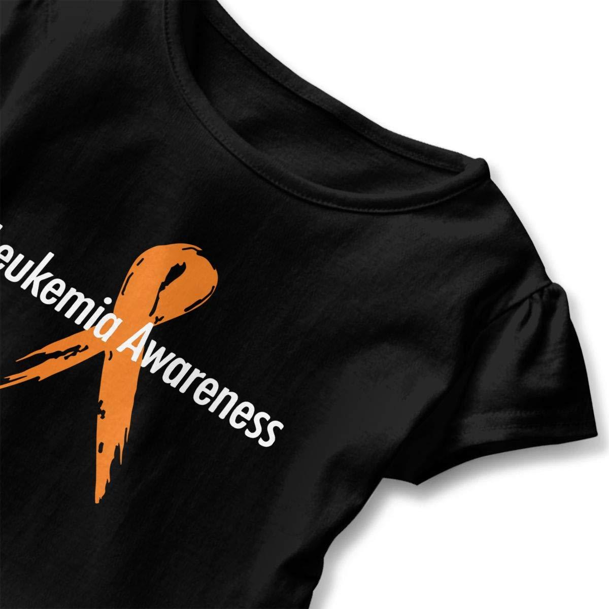 Kawaii Blouse Clothes with Falbala Zi7J9q-0 Short-Sleeve Leukemia Awareness T-Shirts for Children 2-6T