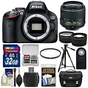 Nikon D5100 Digital SLR Camera & 18-55mm VR II Lens with 16GB Card + Tripod + Tele/Wide Lens Kit (Certified Refurbished)