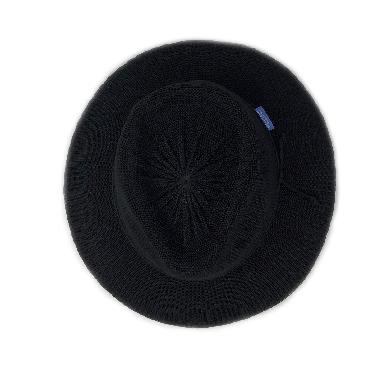 74d2668a Wallaroo Hat Company Women's Victoria Fedora Sun Hat - Black - UPF 50+ at  Amazon Women's Clothing store: