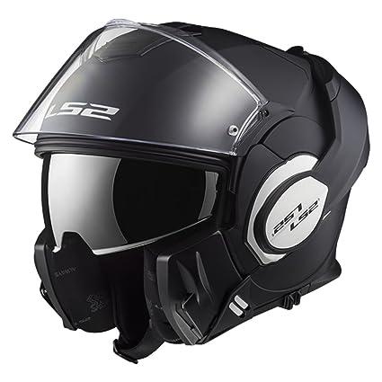 LS2 Helmets Motorcycles & Powersports Helmets Modular Valiant (Matt Black, Large)