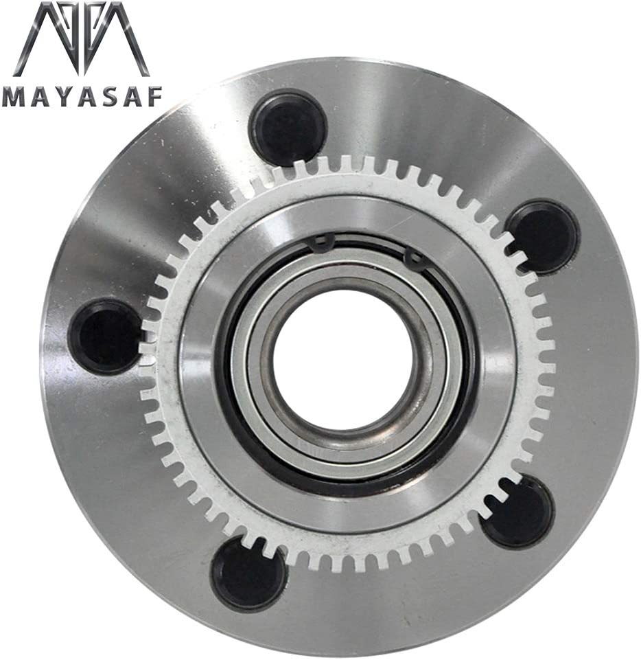 MAYASAF 515084 2 Pack, RWD Only RWD Models Only 5 Lugs w//ABS Front Wheel Hub Bearing Assembly Fit 2000-2001 Dodge RAM 1500 Pickup 2 Pcs