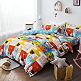 Bingo Forest 100% Cotton 3-piece Duvet Cover Set (Full/Queen)