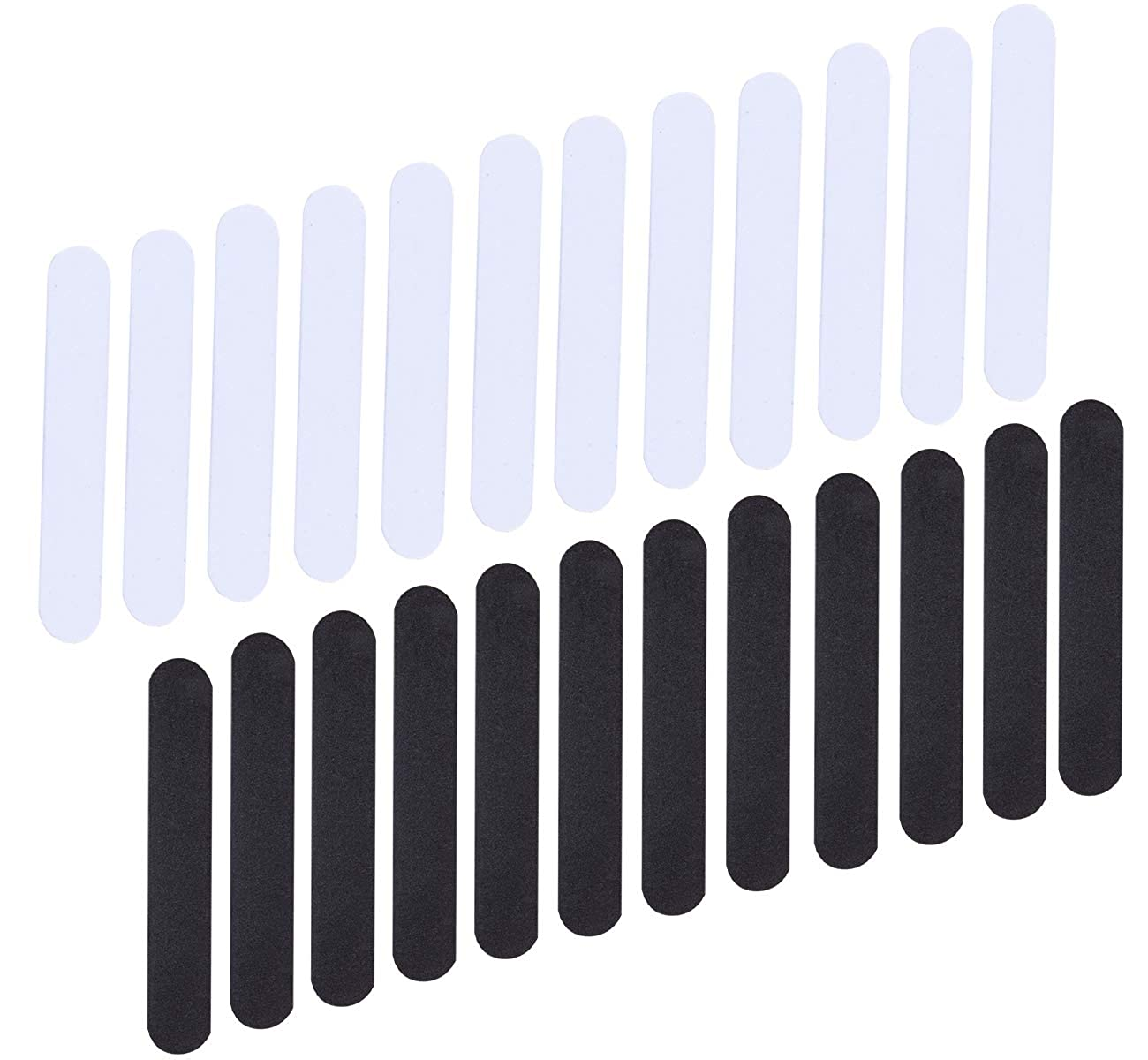 Auranso 24 Pieces Hat Size Reducer Sizing Tape Foam Hats Inserts Black and White