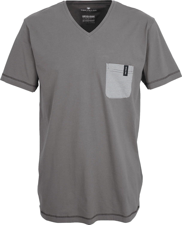 Schlafanzug Shirt langarm Tom Tailor mit V-Ausschnitt Herren Mix /& Match