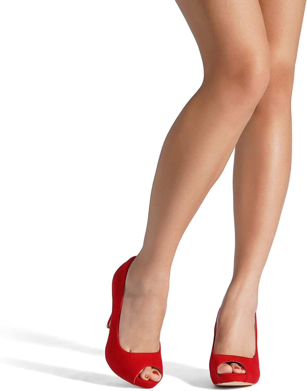 Dream Pairs Mujer Plataforma Peep Toe Pumps Tac/ón Sandalias Zapatos De Boda Novia