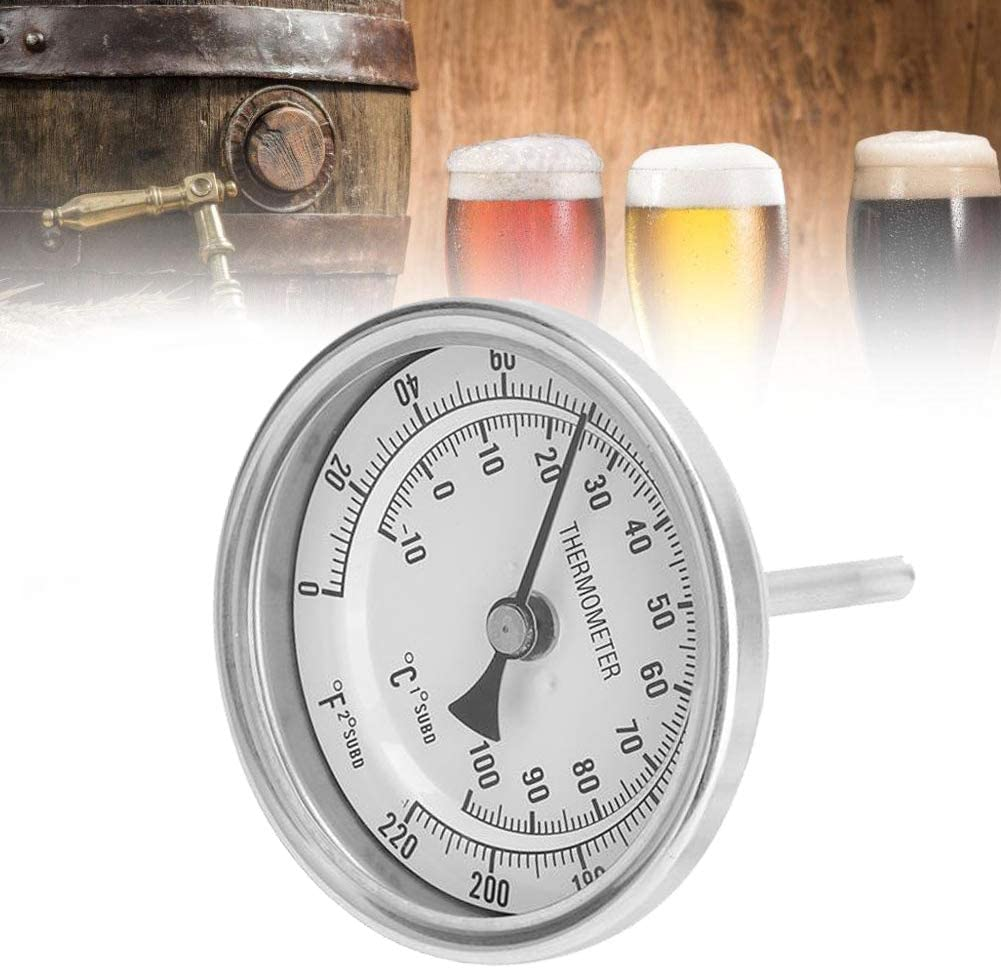 Cafopgrill Kit de Termómetro de Cerveza Sin Soldadura Bi-Metal Homebrew Hervidor 1/2