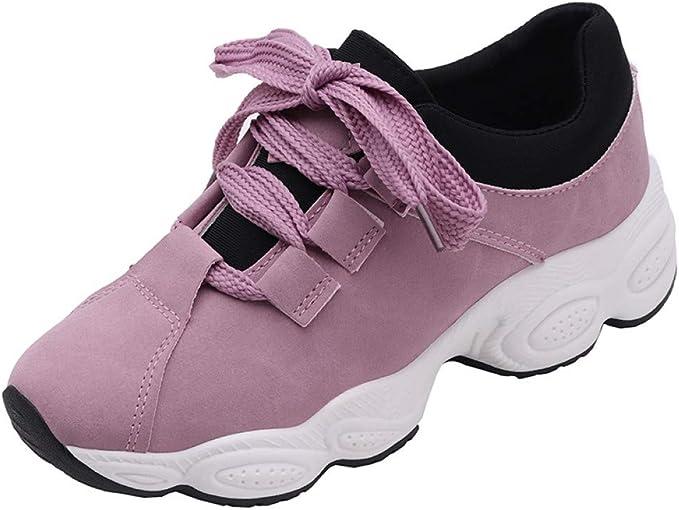 ASTAOT Zapatillas De Deporte Que Aumentan La Altura Zapatillas Deportivas De Gamuza para Mujer Primavera Otoño Plataforma Zapatillas Deportivas Tamaño Femenino 35-40-Gray: Amazon.es: Deportes y aire libre