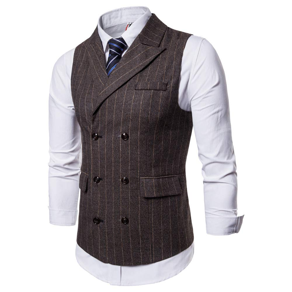 Fxbar,Men Striped Casual Printed Jacket Coat Suit Vest Blouse Casual Men/'s Suit Jacket Tops