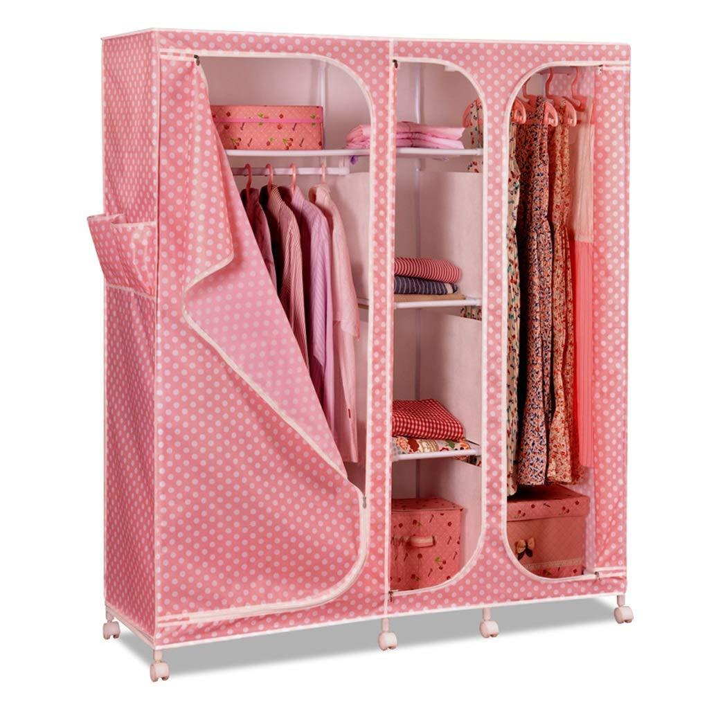 Qi Peng Tissu penderie Oxford Tissu Combinaison Simple penderie casier Pliant Grands vêtements de Stockage Garde-Robe