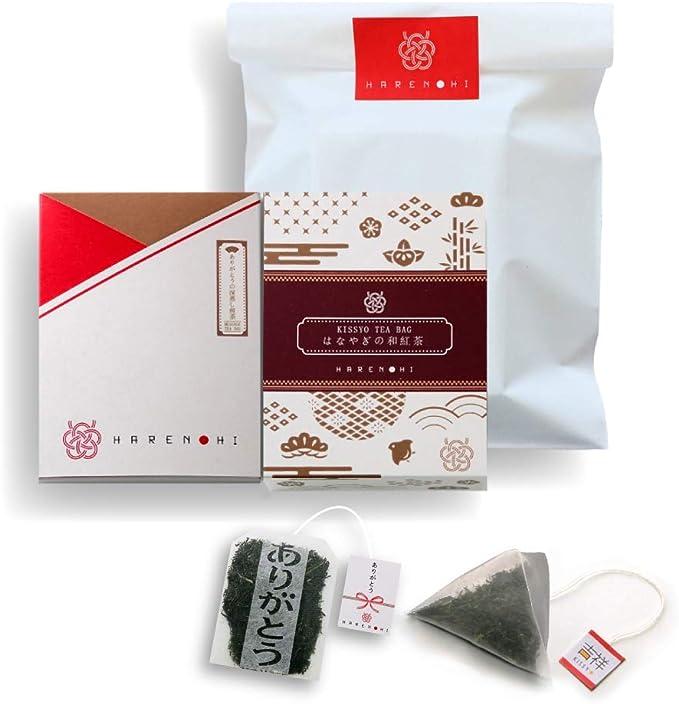 和茶倶楽部「HARENOHI」 2種セット【ありがとうの深蒸し煎茶&はなやぎの和紅茶】 ギフト 煎茶 和紅茶 ティーバッグ 敬老の日