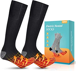 Jomst Upgraded Heated Socks,Rechargeable Battery Heating Socks for Men Women,Winter Warm Cotton Socks Camping/Fishing/Cycling/Motorcycling/Skiing