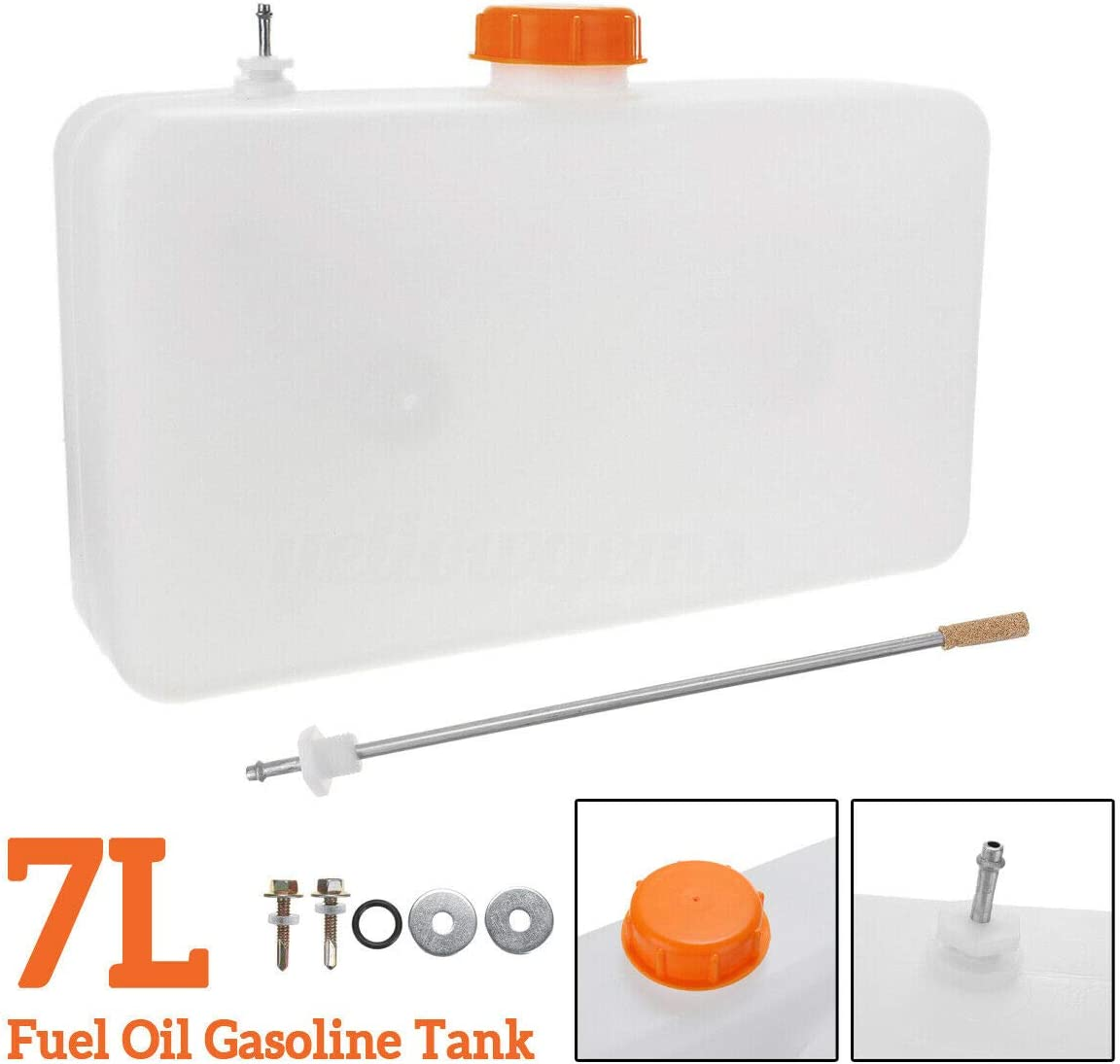 7L Plastic Fuel Oil Gasoline Tank Air Diesel Parking Heater Screw Kit Car Truck