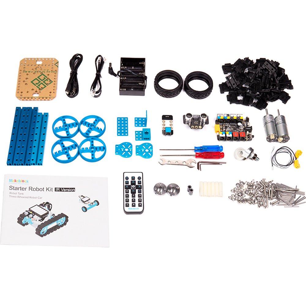 Makeblock DIY Starter Robot kit - Premium Quality - STEM Education - Arduino - Scratch 2.0 - Programmable Robot Kit for Kids to Learn Coding, Robotics and Electronics (IR Version) by Makeblock (Image #3)