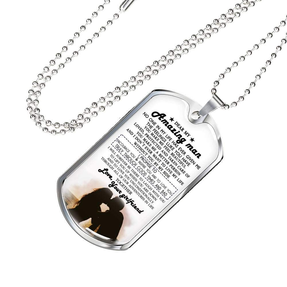 Dear Amazing Man Dog Tag Military Ball Chain - I Love You ...