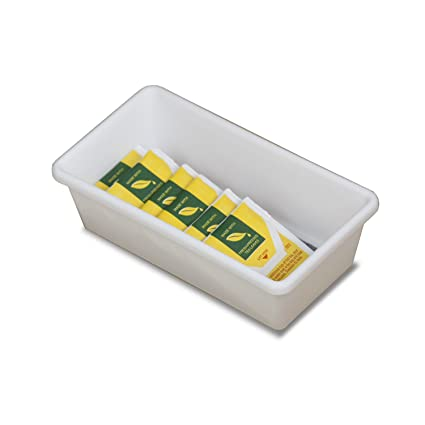 Amazon Com Home Basics Pb44147 Rectangular Plastic Tray With