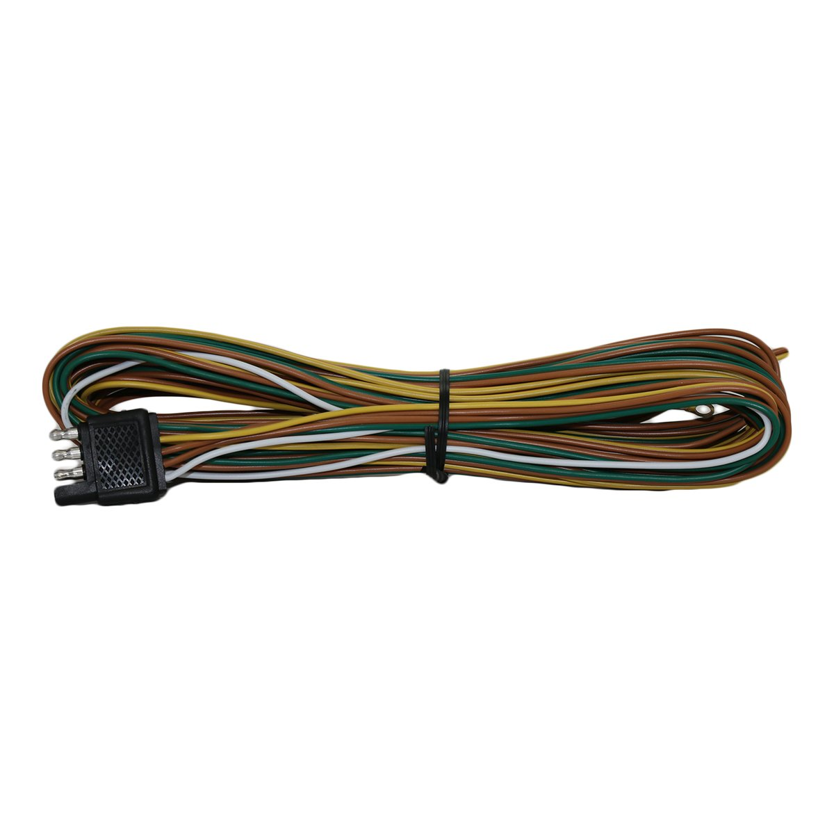 Wishbone Style Trailer Wiring Harness With 4 Flat Utility Wire Connector 25 Ft Long 3 Ground Sports Outdoors