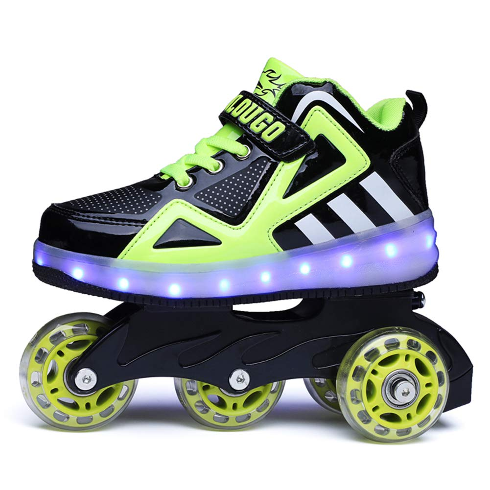35a70e3ccf4 Ufatansy Unisex Kids Roller Inline Skate Removable Become Sport Sneaker  with 11 Model USB Charge Led Shoes for Boys Girls: Amazon.co.uk: Shoes &  Bags