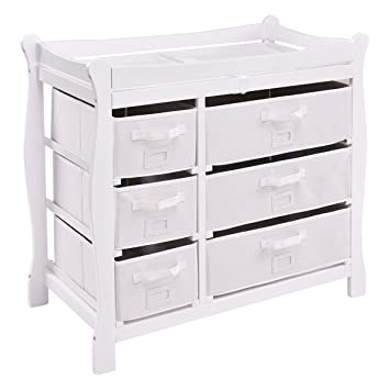 Baby changing dresser Barn Kids Costzon Baby Changing Table Infant Diaper Changing Table Organization Newborn Nursery Station With Pad Amazoncom Amazoncom Costzon Baby Changing Table Infant Diaper Changing