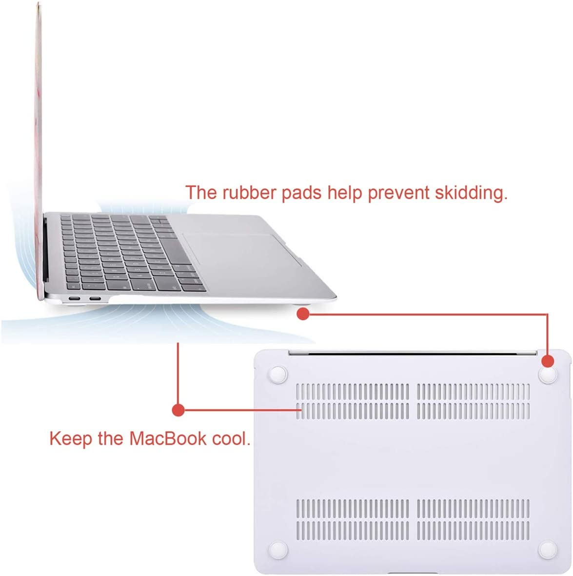 White Plastic Hard Shell /& Keyboard Cover /& Screen Protector /& Storage Bag Compatible with MacBook Air 13 MOSISO MacBook Air 13 inch Case 2019//2018 Release A1932 with Retina Display
