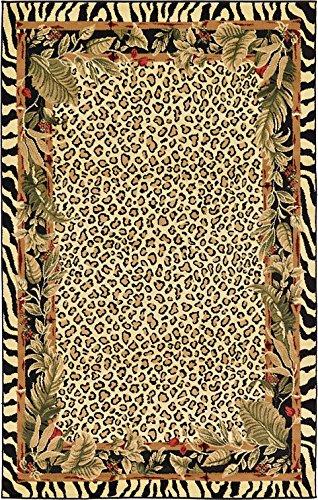 Unique Loom Safari Collection Cream 5 x 8 Area Rug (5' x 8')