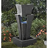 Jeco Raining Water Fountain Planter with Led Light