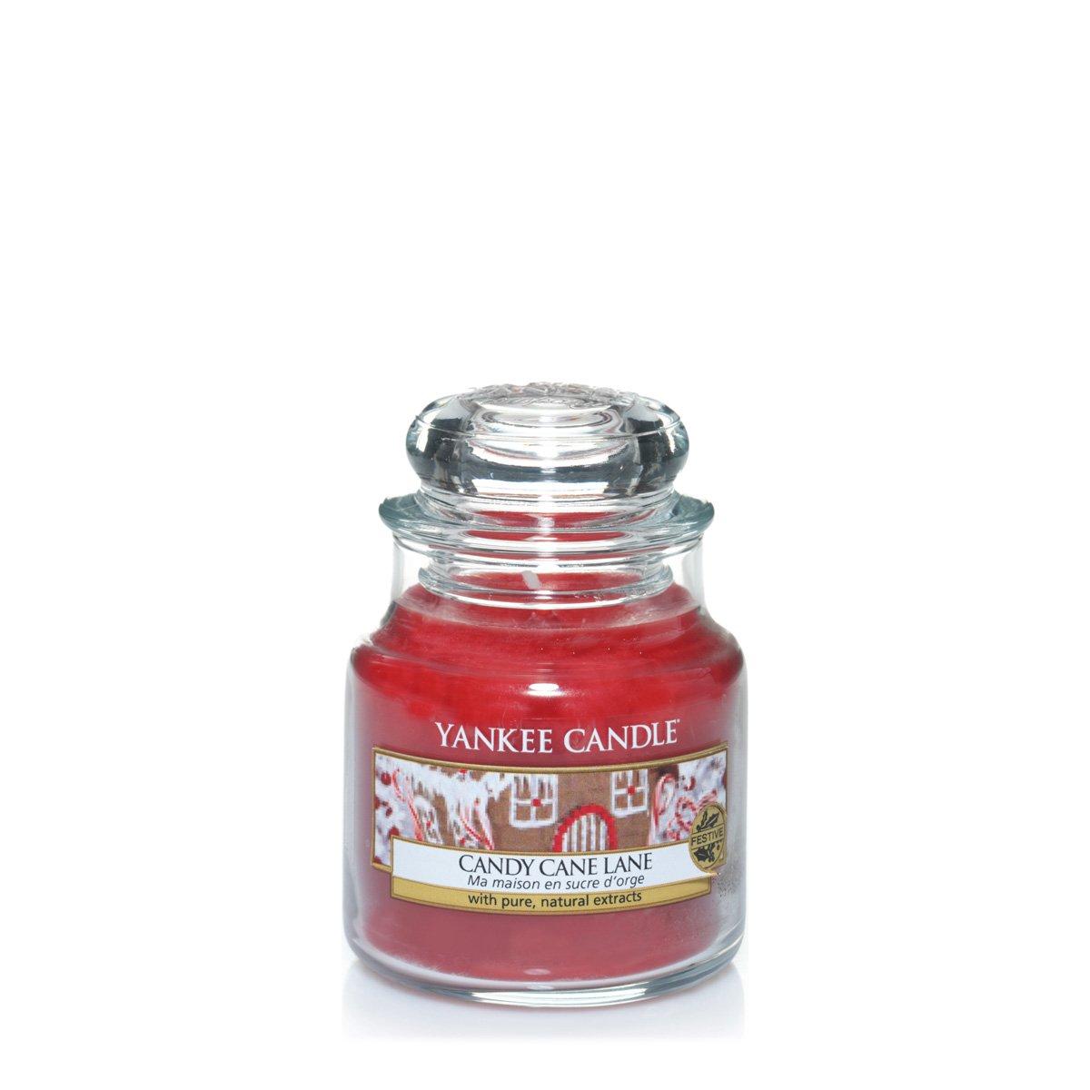 YANKEE CANDLE 1308388 Tartelette Senteur Candy Cane Lane/Ma Maison en Sucre d'orge Cire Blanc 5,8 x 5,5 x 2,0 cm 13083881