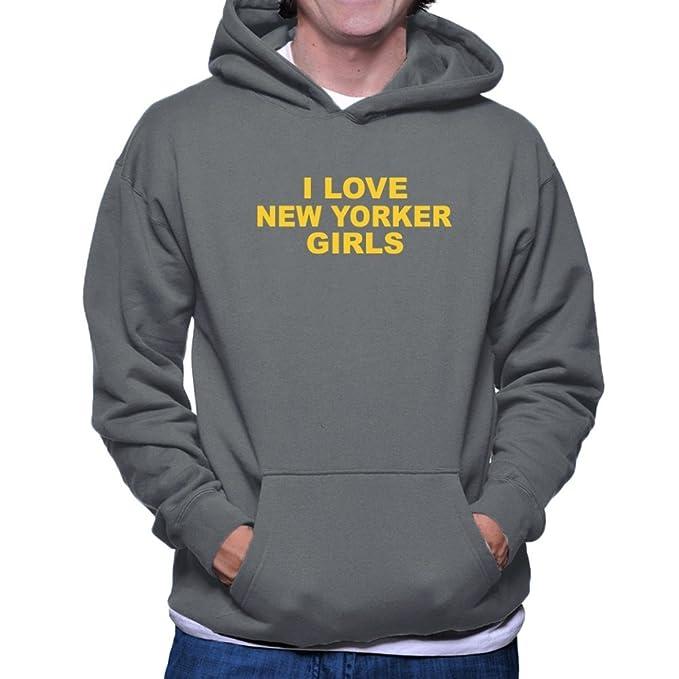 Teeburon I LOVE New Yorker GIRLS Sudadera con capucha: Amazon.es: Ropa y accesorios