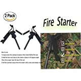 Outdoor Camping Living Survival Tool Emergency Survival Waterproof Magnesium Fire Starter(2 Pack)