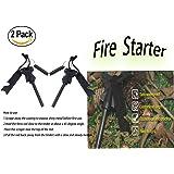 Outdoor Camping Living Survival Tool Emergency Survival Waterproof Magnesium Fire Starter(2 Pack)