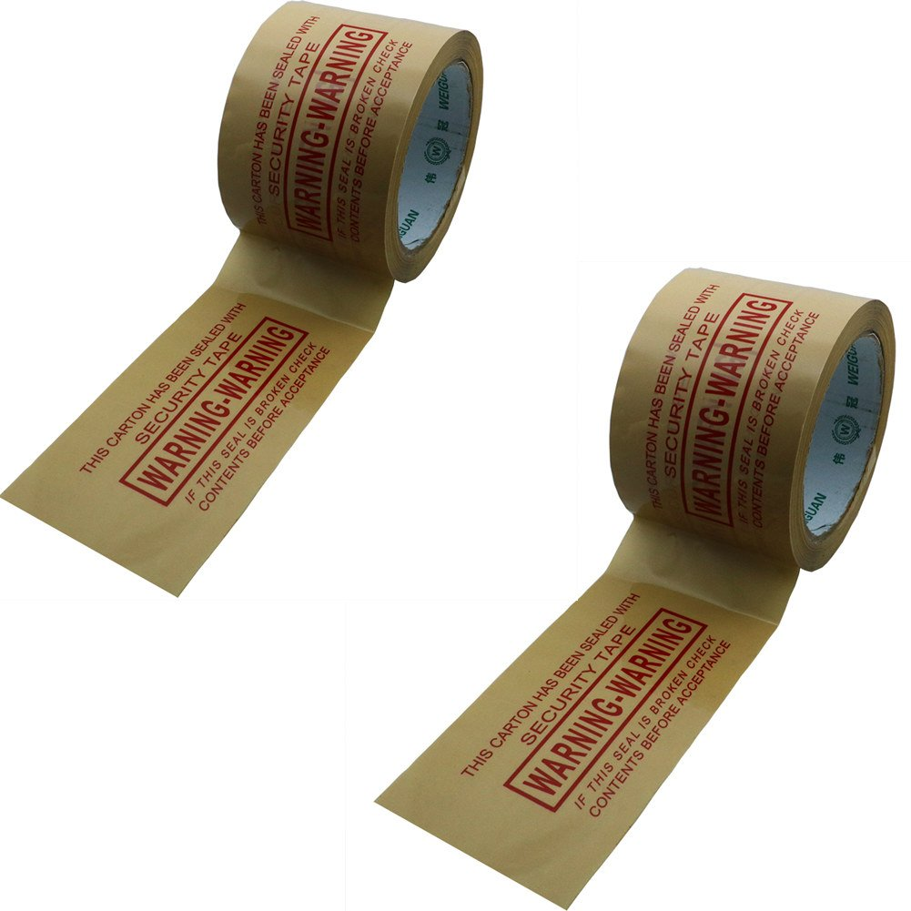 Hybsk 72MM(width) x 60M(length)Warning Tape Khaki With Black Ink (2 Rolls)